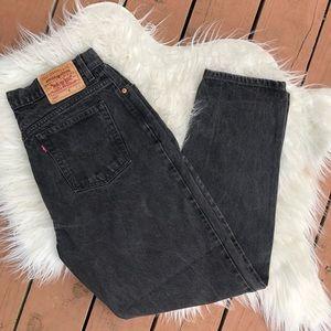 VTG Levi's Orange Tab Black 550 Mom Jeans